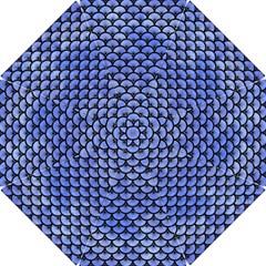 Scales3 Black Marble & Blue Watercolor (r) Hook Handle Umbrella (small) by trendistuff