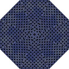 Scales2 Black Marble & Blue Watercolor Straight Umbrella by trendistuff