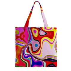 Colourful Abstract Background Design Zipper Grocery Tote Bag by Nexatart