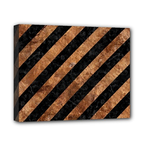 Stripes3 Black Marble & Brown Stone Canvas 10  X 8  (stretched) by trendistuff