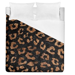 Skin5 Black Marble & Brown Stone (r) Duvet Cover (queen Size) by trendistuff