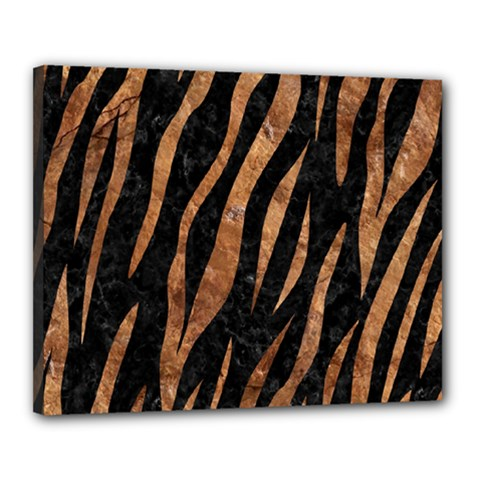 Skin3 Black Marble & Brown Stone Canvas 20  X 16  (stretched) by trendistuff