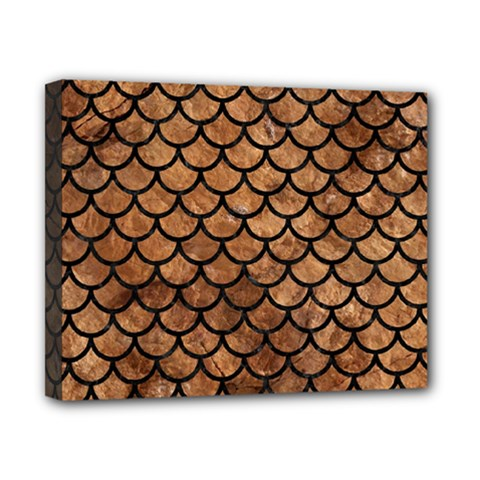 Scales1 Black Marble & Brown Stone (r) Canvas 10  X 8  (stretched) by trendistuff