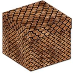 Scales1 Black Marble & Brown Stone (r) Storage Stool 12  by trendistuff
