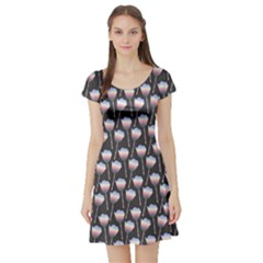 Tulips Short Sleeve Skater Dress by ChihuahuaShower