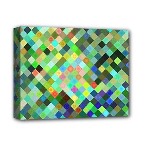 Pixel Pattern A Completely Seamless Background Design Deluxe Canvas 14  X 11  by Nexatart