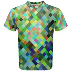 Pixel Pattern A Completely Seamless Background Design Men s Cotton Tee
