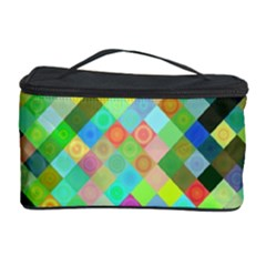 Pixel Pattern A Completely Seamless Background Design Cosmetic Storage Case by Nexatart