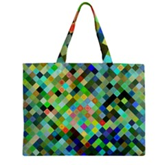 Pixel Pattern A Completely Seamless Background Design Zipper Mini Tote Bag by Nexatart
