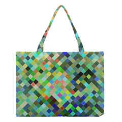 Pixel Pattern A Completely Seamless Background Design Medium Tote Bag by Nexatart