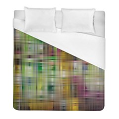 Woven Colorful Abstract Background Of A Tight Weave Pattern Duvet Cover (full/ Double Size)