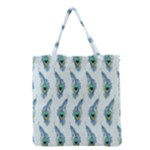 Background Of Beautiful Peacock Feathers Grocery Tote Bag