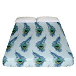 Background Of Beautiful Peacock Feathers Fitted Sheet (California King Size)
