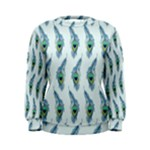 Background Of Beautiful Peacock Feathers Women s Sweatshirt