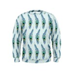 Background Of Beautiful Peacock Feathers Kids  Sweatshirt