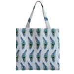 Background Of Beautiful Peacock Feathers Zipper Grocery Tote Bag