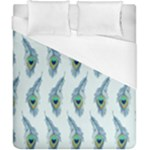 Background Of Beautiful Peacock Feathers Duvet Cover (California King Size)