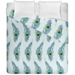 Background Of Beautiful Peacock Feathers Duvet Cover Double Side (California King Size)