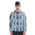 Background Of Beautiful Peacock Feathers Wind Breaker (Men)