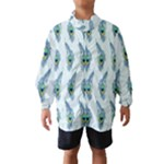 Background Of Beautiful Peacock Feathers Wind Breaker (Kids)