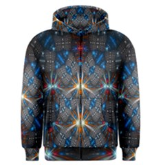 Fancy Fractal Pattern Background Accented With Pretty Colors Men s Zipper Hoodie by Nexatart