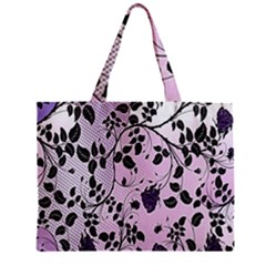 Floral Pattern Background Zipper Mini Tote Bag by Nexatart