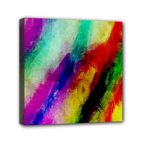 Colorful Abstract Paint Splats Background Mini Canvas 6  X 6  by Nexatart