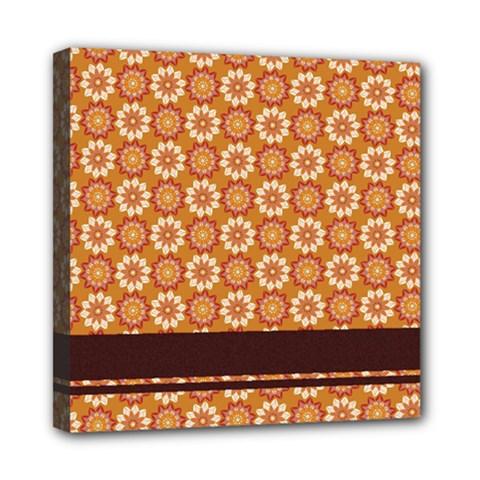 Floral Seamless Pattern Vector Mini Canvas 8  X 8  by Nexatart