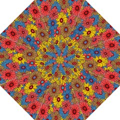 Background With Multi Color Floral Pattern Golf Umbrellas by Nexatart