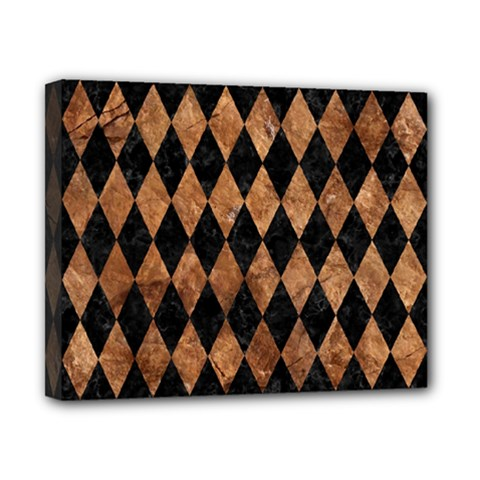 Diamond1 Black Marble & Brown Stone Canvas 10  X 8  (stretched) by trendistuff