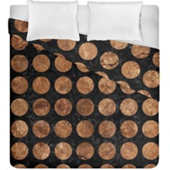 Circles1 Black Marble & Brown Stone Duvet Cover Double Side (king Size) by trendistuff
