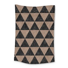 Triangle3 Black Marble & Brown Colored Pencil Small Tapestry by trendistuff