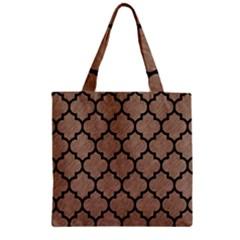 Tile1 Black Marble & Brown Colored Pencil (r) Zipper Grocery Tote Bag by trendistuff