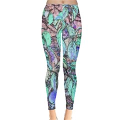 Colored Pencil Tree Leaves Drawing Leggings  by LokisStuffnMore