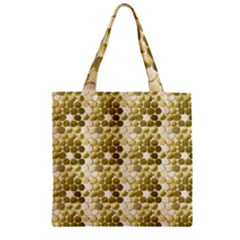 Cleopatras Gold Zipper Grocery Tote Bag by psweetsdesign