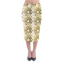 Cleopatras Gold Velvet Midi Pencil Skirt by psweetsdesign