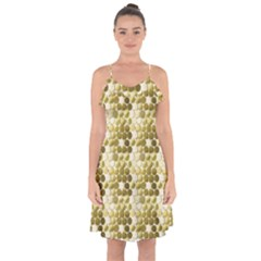Cleopatras Gold Ruffle Detail Chiffon Dress by psweetsdesign