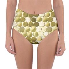 Cleopatras Gold Reversible High Waist Bikini Bottoms by psweetsdesign