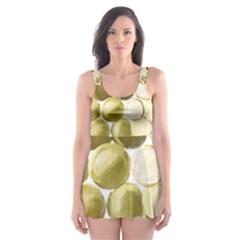 Cleopatras Gold Skater Dress Swimsuit by psweetsdesign