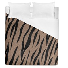 Skin3 Black Marble & Brown Colored Pencil (r) Duvet Cover (queen Size) by trendistuff
