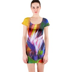 Palms02 Short Sleeve Bodycon Dress by psweetsdesign
