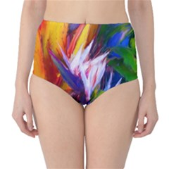 Palms02 High Waist Bikini Bottoms by psweetsdesign