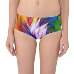 Palms02 Mid Waist Bikini Bottoms by psweetsdesign