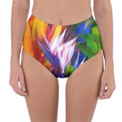 Palms02 Reversible High Waist Bikini Bottoms by psweetsdesign