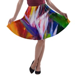 Palms02 A Line Skater Skirt by psweetsdesign