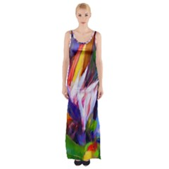 Palms02 Maxi Thigh Split Dress by psweetsdesign