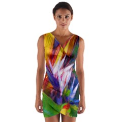 Palms02 Wrap Front Bodycon Dress by psweetsdesign