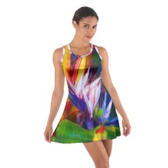 Palms02 Cotton Racerback Dress by psweetsdesign