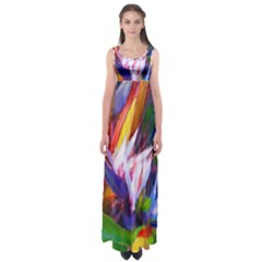 Palms02 Empire Waist Maxi Dress by psweetsdesign