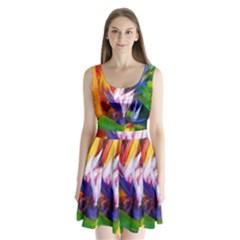 Palms02 Split Back Mini Dress  by psweetsdesign